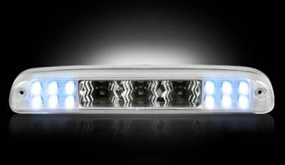 Recon Lighting - Ford 99-16 Superduty F250HD/350/450/550 & 95-03 Ranger & Ford Explorer Sport Trac 01-05 - Red LED 3rd Brake Light Kit w/ White LED Cargo Lights - Clear Lens - Image 3