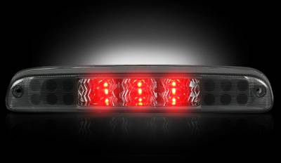 Recon Lighting - Ford 99-16 Superduty F250HD/350/450/550 & 95-03 Ranger & Ford Explorer Sport Trac 01-05 - Red LED 3rd Brake Light Kit w/ White LED Cargo Lights - Smoked Lens - Image 2