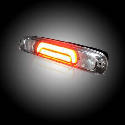 Recon Lighting - Ford 99-17 Superduty F250HD/350/450/550 & 95-03 Ranger & Ford Explorer Sport Trac 01-05 - ULTRA HIGH POWER Red LED 3rd Brake Light Kit w/ ULTRA HIGH POWER CREE XML White LED Cargo Lights - Clear Lens - Image 4