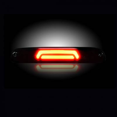 Recon Lighting - Ford 99-17 Superduty F250HD/350/450/550 & 95-03 Ranger & Ford Explorer Sport Trac 01-05 - ULTRA HIGH POWER Red LED 3rd Brake Light Kit w/ ULTRA HIGH POWER CREE XML White LED Cargo Lights - Smoked Lens - Image 3