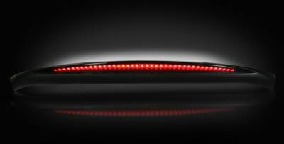 "Recon Lighting - Ford 99-16 Superduty F250HD/350/450/550 & Cadillac 03-07 Escalade EXT & 03-06 Escalade ESV & SUV - ESCALADE STYLE ""STEALTH"" LED 3RD BRAKE LIGHT WITH COMPLETE REAR ROOF HOUSING - Red LED 3rd Brake Light Kit w/ White LED Cargo Lights - Smoked Lens - Image 2"