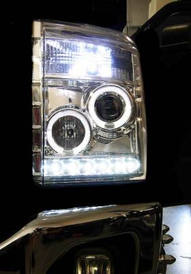 Recon Lighting - Ford Superduty 11-15 F250/F350/F450/F550 PROJECTOR HEADLIGHTS - Clear / Chrome - Image 4