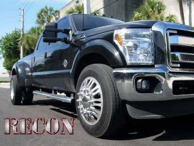 Recon Lighting - Ford Superduty 11-15 F250/F350/F450/F550 PROJECTOR HEADLIGHTS w/ CCFL HALOS & DRL - Clear / Chrome - Image 2