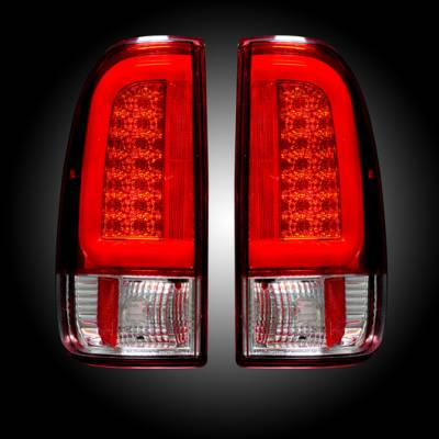 Lighting - Tail Lights - Recon Lighting - Ford Superduty F250HD/350/450/550 08-16 OLED TAIL LIGHTS - Red Lens