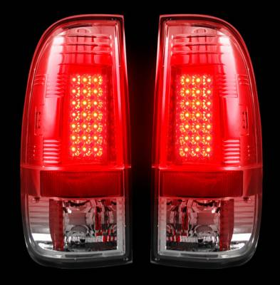 "Recon Lighting - Ford Superduty F250HD/350/450/550 99-07 & F150 97-03 Straight aka ""Style"" Side LED Tail Lights - Clear Lens - Image 2"