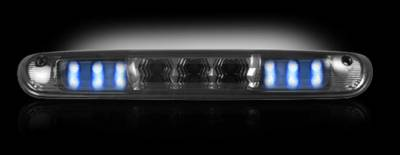 Recon Lighting - GMC & Chevy 07-13 Sierra & Silverado (2nd GEN) - Red LED 3rd Brake Light Kit w/ White LED Cargo Lights - Smoked Lens - Image 3