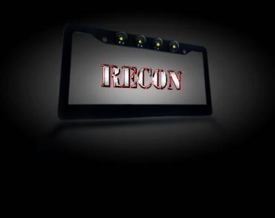 Recon Lighting - Black Aluminum License Plate Frame with Four 6000K XML CREE LED Reverse Lights - Fits all Standard U.S. License Plates - Image 2