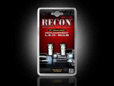 Recon Lighting - Blue LED License Plate & Red LED Running Light Bulb Kit - (Attn: These Bulbs ONLY fit inside of Part # 264900 & 264902 & 264903 for customers wishing to change the license plate illumination color) - BLUE & RED - Image 1