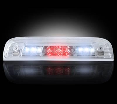Recon Lighting - GMC & Chevy 14-15 Sierra & Silverado (3rd GEN) - Red LED 3rd Brake Light Kit w/ White LED Cargo Lights - Clear Lens - Image 2