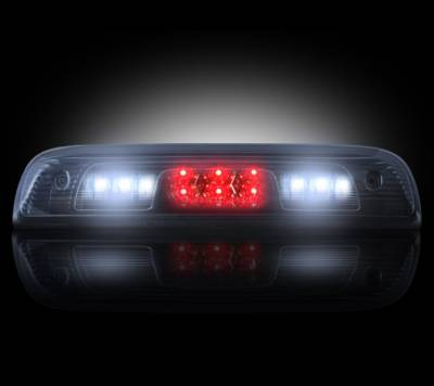 Recon Lighting - GMC & Chevy 14-15 Sierra & Silverado (3rd GEN) - Red LED 3rd Brake Light Kit w/ White LED Cargo Lights - Smoked Lens - Image 2