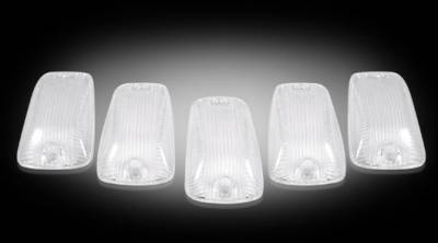 Lighting - Cab Roof - Recon Lighting - GMC & Chevy 88-02 CK Heavy-Duty (5-Piece Set) Clear Cab Roof Light Lenses Only & Amber 194 LED Bulbs