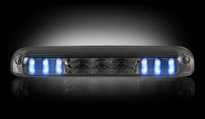 Recon Lighting - GMC & Chevy 99-06 Sierra & Silverado (Classic Body Style) - Red LED 3rd Brake Light Kit w/ White LED Cargo Lights - Smoked Lens - Image 3