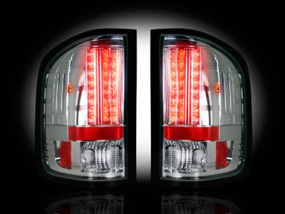 Recon Lighting - GMC Sierra 07-13 (2nd GEN ? SINGLE WHEEL ONLY) LED TAIL LIGHTS - Clear Lens - Image 2