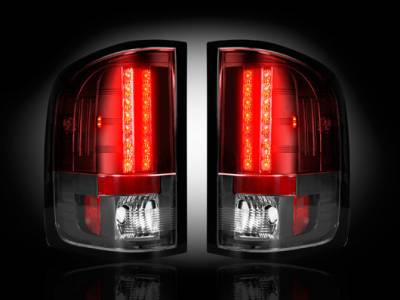 Recon Lighting - GMC Sierra 07-13 (2nd GEN ? SINGLE WHEEL ONLY) LED TAIL LIGHTS - Red Lens - Image 2