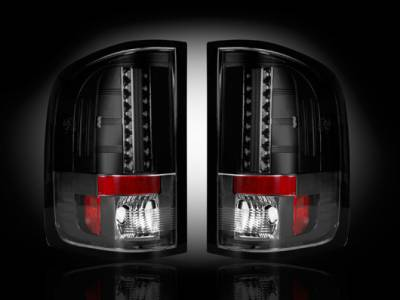 Lighting - Tail Lights - Recon Lighting - GMC Sierra 07-13 (2nd GEN ? SINGLE WHEEL ONLY) LED TAIL LIGHTS - Smoked Lens