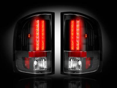 Recon Lighting - GMC Sierra 07-13 (2nd GEN ? SINGLE WHEEL ONLY) LED TAIL LIGHTS - Smoked Lens - Image 2