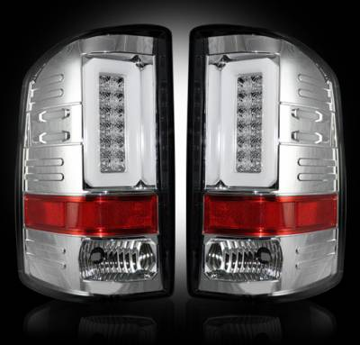 Recon Lighting - GMC Sierra 15-16 2500/3500 (Fits 3rd GEN Single-Wheel ONLY) LED TAIL LIGHTS - Clear Lens - Image 1