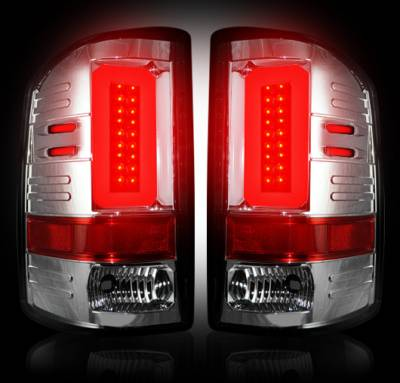 Recon Lighting - GMC Sierra 15-16 2500/3500 (Fits 3rd GEN Single-Wheel ONLY) LED TAIL LIGHTS - Clear Lens - Image 2