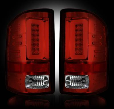 Recon Lighting - GMC Sierra 15-16 2500/3500 (Fits 3rd GEN Single-Wheel ONLY) LED TAIL LIGHTS - Red Lens - Image 1