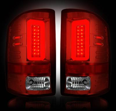 Recon Lighting - GMC Sierra 15-16 2500/3500 (Fits 3rd GEN Single-Wheel ONLY) LED TAIL LIGHTS - Red Lens - Image 2