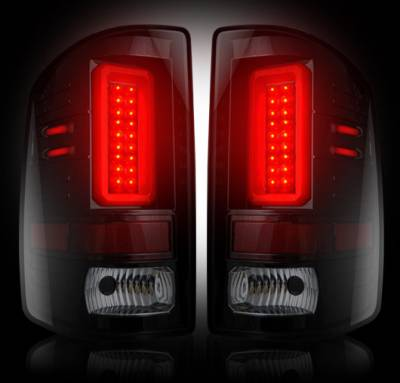 Recon Lighting - GMC Sierra 15-16 2500/3500 (Fits 3rd GEN Single-Wheel ONLY) LED TAIL LIGHTS - Smoked Lens - Image 2