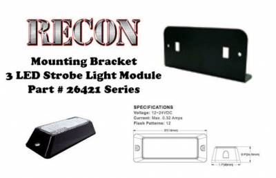 Lighting - Accent Lighting & Accessories  - Recon Lighting - L Bracket Single Head for 26421 LED Strobe Light