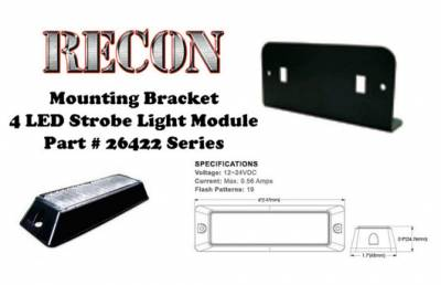 Lighting - Accent Lighting & Accessories  - Recon Lighting - L Bracket Single Head for 26422 LED Strobe Light
