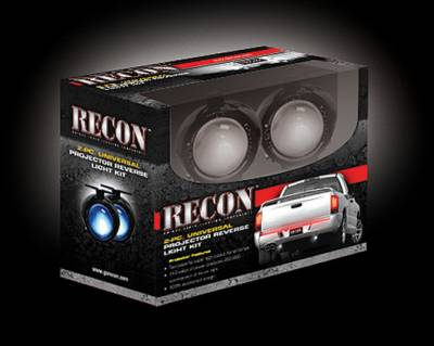 Recon Lighting - Rear Mounted 2-Piece Universal Projector Reverse Light Kit with 110 Watts of Xenon Super White Light (Fits All Pick Up Trucks, SUVs, & Cars) - Image 2