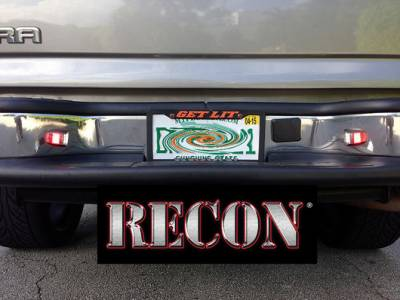 Recon Lighting - Ultra High Power 3-Watt White LED License Plate Illumination Kit includes Ultra High Power 3-Watt Red LED Rear Facing Brake & Running Lights - Fits all 07-13 CHEVY Silverado & GMC Sierra Trucks (2nd GEN Body Style) - Image 2