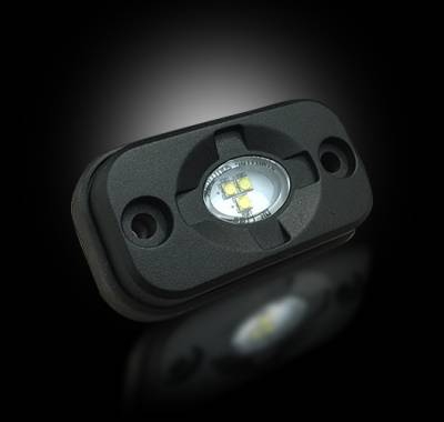 """Recon Lighting - Under Body / Wheel Well Mounted Rectangular Ultra High Power 15-Watt 1600-Lumen CREE LEDs IP67 Waterproof (Includes Wiring Hardware & Gaskets for 4pc Kit - Dimensions: L x H x D = 3.0"""" x 1.7"""" x 1.0"""") - RED - Image 4"""