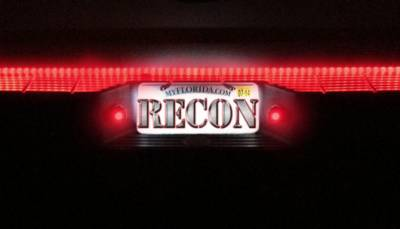 Recon Lighting - White LED License Plate Illumination Kit includes Red LED Rear Facing Running Lights - Fits all 97-15 FORD Trucks (Including: 99-16 SUPERDUTY, 97-14 F-150, RAPTOR, 99-16 Ranger, 99-16 Sport-Trac, & 99-05 Excursion) - Image 4