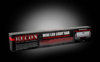 "Recon Lighting - 15"" Mini Tailgate Light Bar w/ Red LED Running Lights, Brake Lights, & Turn Signals with Red Lens (Only Fits FORD & CHEVY/GMC Turbo Diesel & Heavy Duty Trucks) - Image 3"