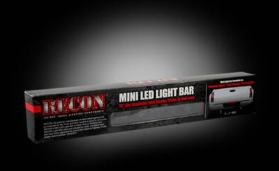 "Recon Lighting - 15"" Mini Tailgate Light Bar w/ Red LED Running Lights, Brake Lights, & Turn Signals with Smoked Lens (Only Fits FORD & CHEVY/GMC Turbo Diesel & Heavy Duty Trucks) - Image 3"