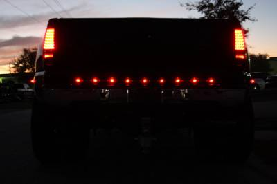 "Recon Lighting - 15"" Mini Tailgate Light Bar w/ Red LED Running Lights, Brake Lights, & Turn Signals with Smoked Lens with White LED Reverse Lights (Only Fits FORD & CHEVY/GMC Turbo Diesel & Heavy Duty Trucks) - Image 3"