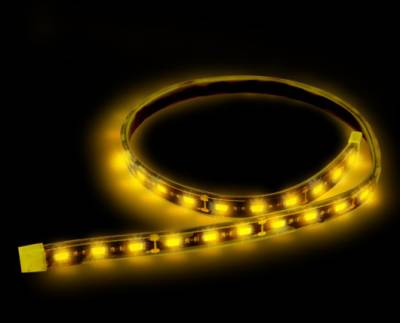 Lighting - Accent Lighting & Accessories  - Recon Lighting - 15' Flexible IP68 Rated Waterproof Light Strip with Ultra High Power CREE LEDs (1-Piece) - AMBER