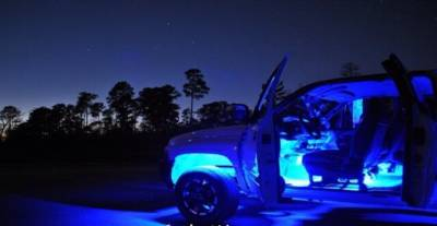 Recon Lighting - 15' Flexible IP68 Rated Waterproof Light Strip with Ultra High Power CREE LEDs (1-Piece) - BLUE - Image 2