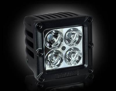 "Lighting - Off Road Lighting / Light Bars - Recon Lighting - 1900 LUMEN 3"" SQUARE LED 10° SPOT LIGHT - 4 Individual 5-Watt (20-Watt Total) Spot Pattern CREE XTE LEDs"