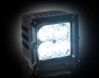 "Recon Lighting - 1900 LUMEN 3"" SQUARE LED 10° SPOT LIGHT - 4 Individual 5-Watt (20-Watt Total) Spot Pattern CREE XTE LEDs - Image 2"