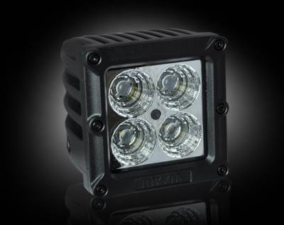 "Recon Lighting - 1900 LUMEN 3"" SQUARE LED 25° FLOOD LIGHT - 4 Individual 5-Watt (20-Watt Total) Spot Pattern CREE XTE LEDs"