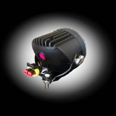 "Recon Lighting - 3"" Round 4000 Lumen High Intensity 6000K 18-Watt LED Driving Light Kit - 2pc Set with Complete Wiring Hardware & RECON Rock Guard - Image 2"