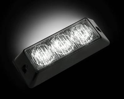 Lighting - Accent Lighting & Accessories  - Recon Lighting - 3-LED 12 Function 3-Watt High-Intensity Strobe Light Module w Black Base - White Color