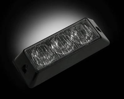 Recon Lighting - 3-LED 12 Function 3-Watt High-Intensity Strobe Light Module w Black Base - White Color - Image 2