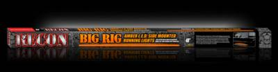 "Recon Lighting - 48"" BIG RIG LED Running Light Kit in Amber - 2 Piece Set Includes Left & Right Side (Fits all Standard & Regular Cab Trucks) - Image 3"