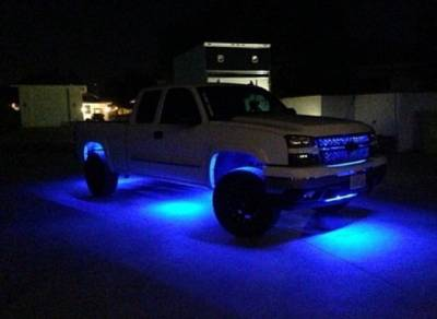 Recon Lighting - 4' Foot Universal Bed Rail / Cargo Area / Rock Crawler LED Light Kit (2-Piece Set Mounts Almost Anywhere) - 7-Color LEDs with Handheld RF Remote Control - Image 5
