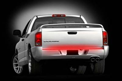 "Recon Lighting - 49"" Hyperlite Red LED ""Line Of Fire"" Tailgate Light Bar (Fits most flare side and smaller trucks and SUV's) - Image 1"