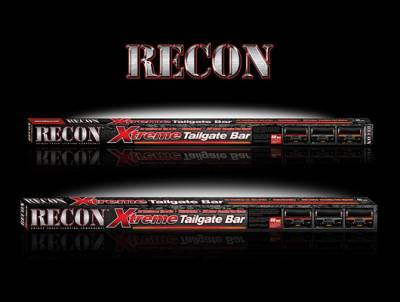 """Recon Lighting - 49"""" Tailgate Bar w/ Amber """"Scanning"""" LED Turn Signals & Red LED Brake/Running Lights & White LED Reverse Lights (Includes Part # 2641X - In-Line Resistor Box for CANBUS electrical systems) (49"""" bar fits most flare side and smaller trucks and SUV's) - Image 2"""
