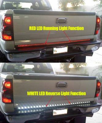 "Recon Lighting - 49"" Tailgate Bar w/ Red LED Brake Lights & White LED Reverse Lights (Fits most flare side and smaller trucks and SUV's) - Image 3"