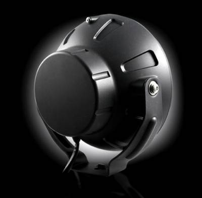 "Recon Lighting - 6"" Round 6,250K HID Driving Light w/ Four 6,250K LED Daytime Running Lights - Chrome Internal Housing - Image 5"