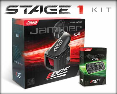 Tuners & Programmers - Power Packages - Edge Products - CHEVY/GMC 01-04 6.6L STAGE 1 Kit (Evolution  CS2/JAMMER CAI)