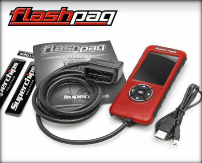 Tuners & Programmers - Tuners / Programmers - Superchips - Flashpaq F5 GM Diesel/Gas (Diesel 01-15 & Gas 99-15)